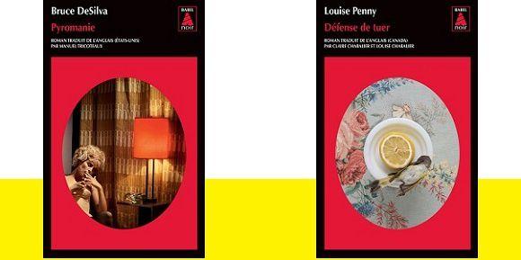 Polars poches 2015 chez Babel Noir: Bruce DeSilvaet Louise Penny