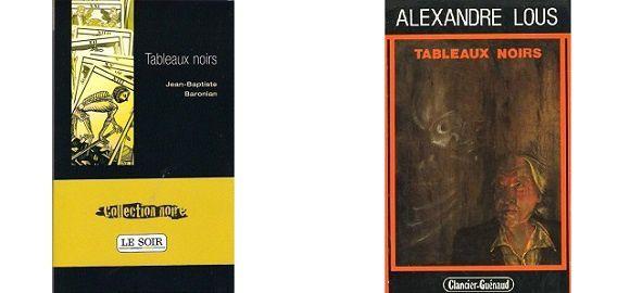 Jean-Baptiste Baronian: Tableaux noirs (Éd.Clancier-Guénaud, 1984)