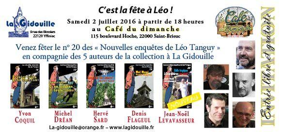 Rendez-vous à Saint-Brieuc avec 5 auteurs de Léo Tanguy