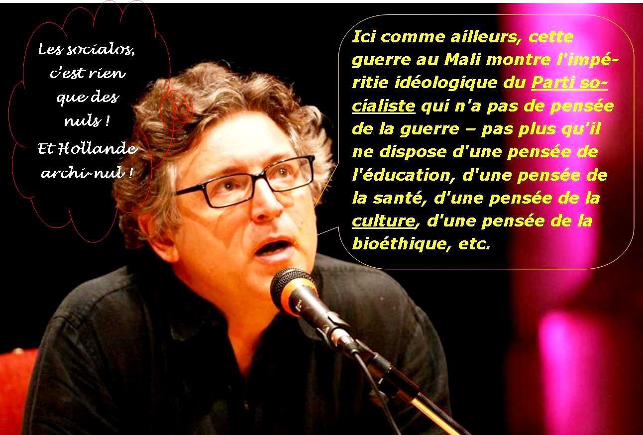 M. Hollande ne comprend rien aux guerres idéologiques du XXie siècle (dixit M. Onfray)