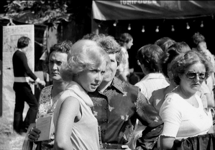 Suzanne à la Fête de la Rose en 1978