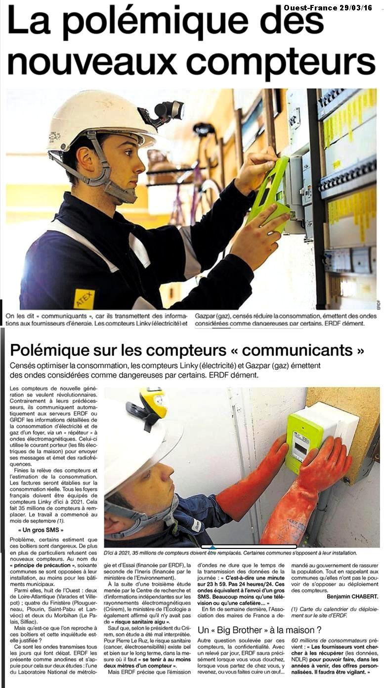 Une et Article Ouest-France 39/03/2016