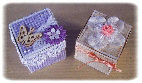 Des petites boîtes