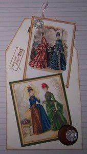avec deux superbes images, pour l'échange organisé par Pascale sur le thème de la mode