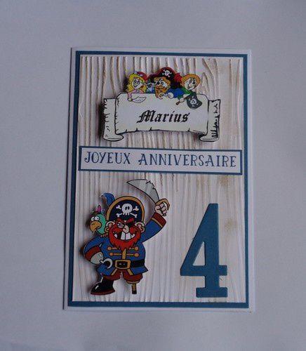 Une carte d'anniversaire pour un petit pirate
