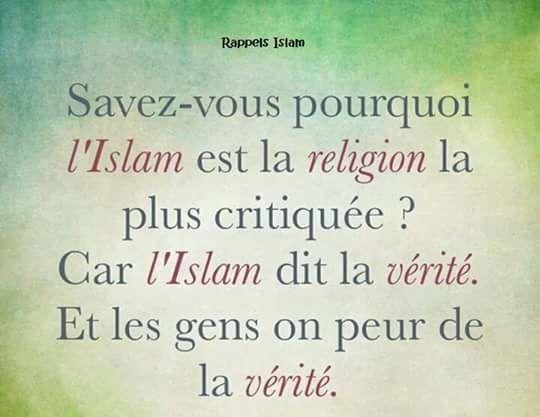 Pourquoi islam et les musulmans sont critiquée ?