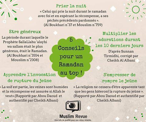 5 Conseils pour un Ramadan au Top, bi idhni Llah !