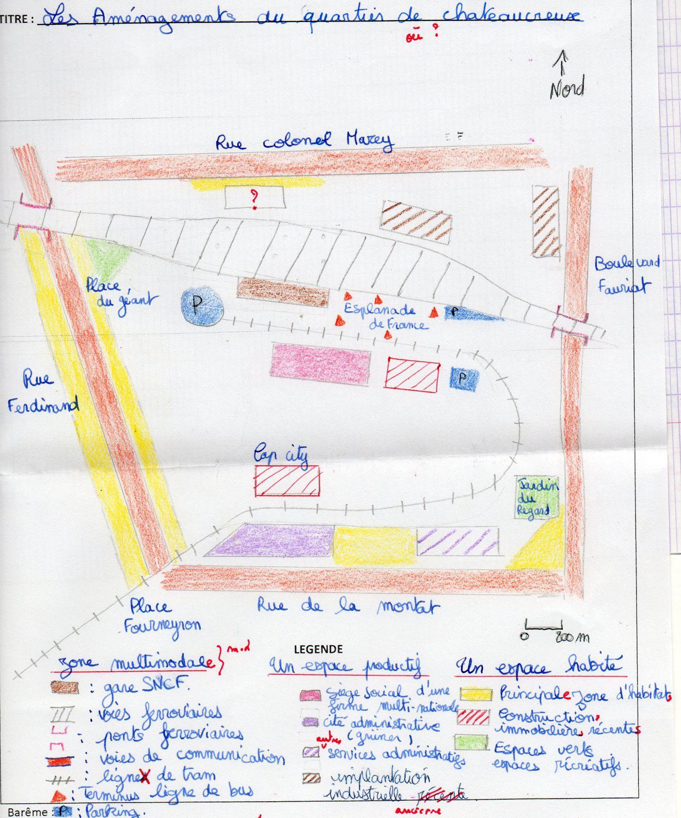 Le travail de Julien V. sur les aménagements récents dans le quartier de Châteaucreux à quelques centaines de mètres du lycée Claude-Fauriel de Saint-Etienne