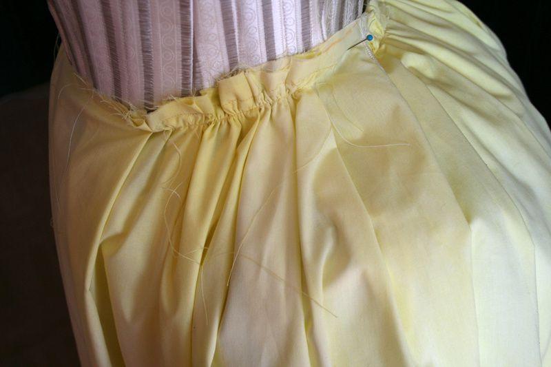 Tuto: Robe anglaise retroussée  à la polonaise partie III (la jupe)