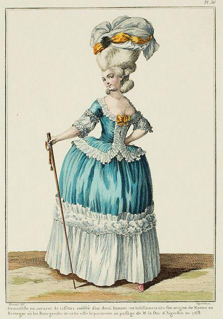 projet: Robe polonaise française 18eme: la décoration