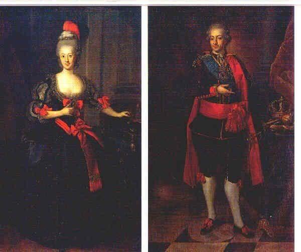1778 nationella dräkten / national costumes, court versions