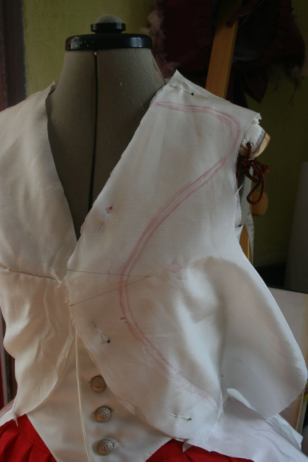 Le projet Riding habit, Lady Worsley :la toile de la veste