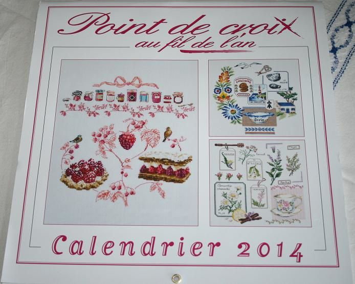 Calendrier 2014 du point de croix