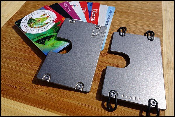 FIRETI : porte carte, porte feuille titane...