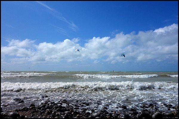 Normandie, Pays de Caux : Kite Surf