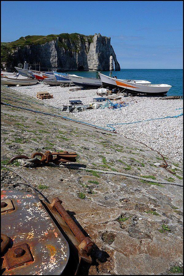 Normandie, Pays de Caux : Etretat, plage