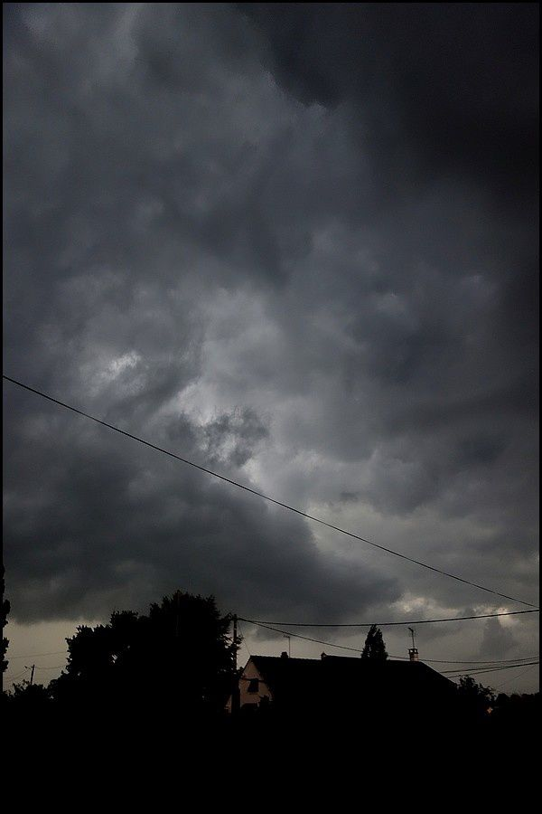 Normandie, Pays de Caux : orage de juillet