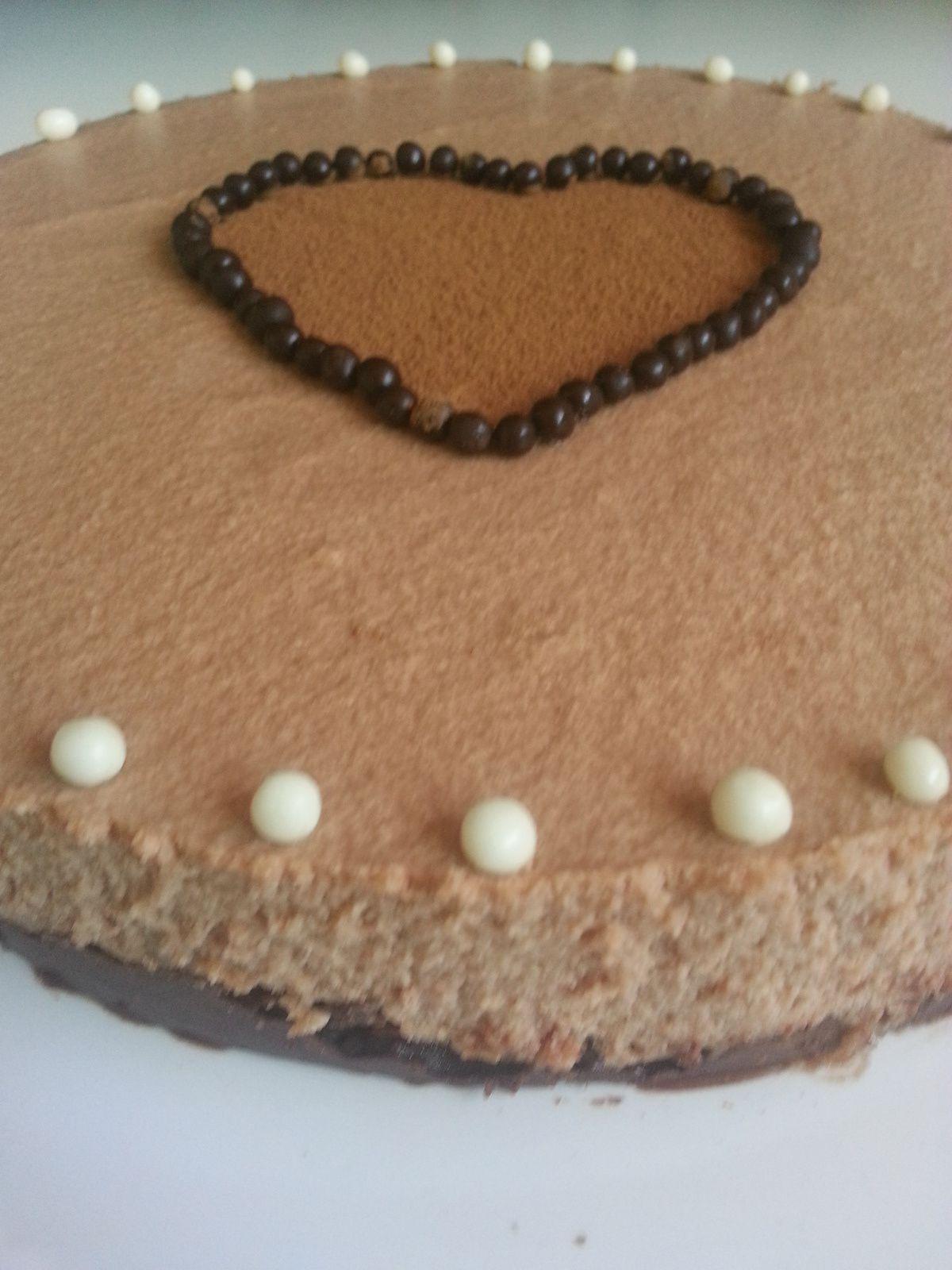 Bavarois mousse nutella, biscuit croquant