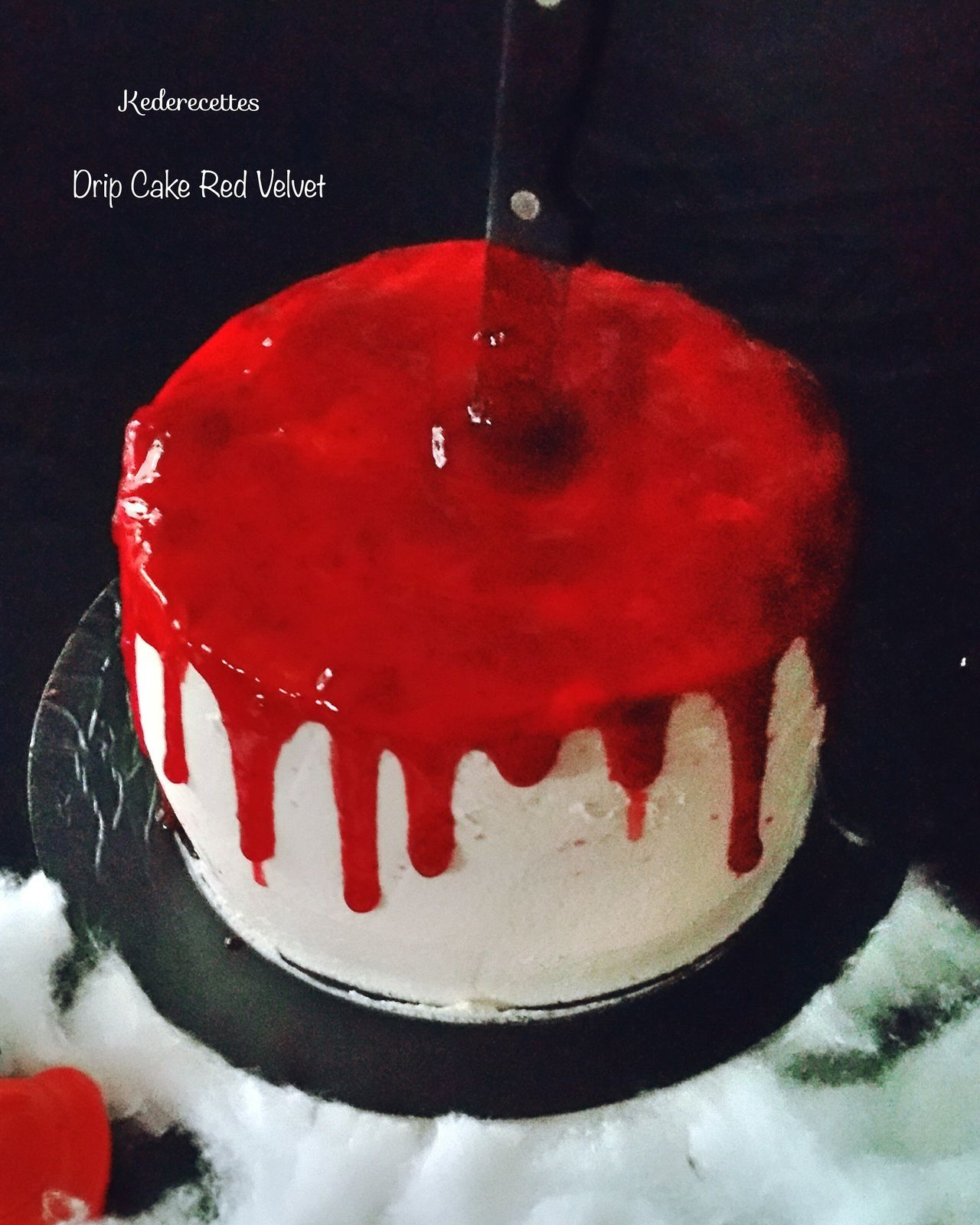 Drip Cake Halloween, Red Velvet