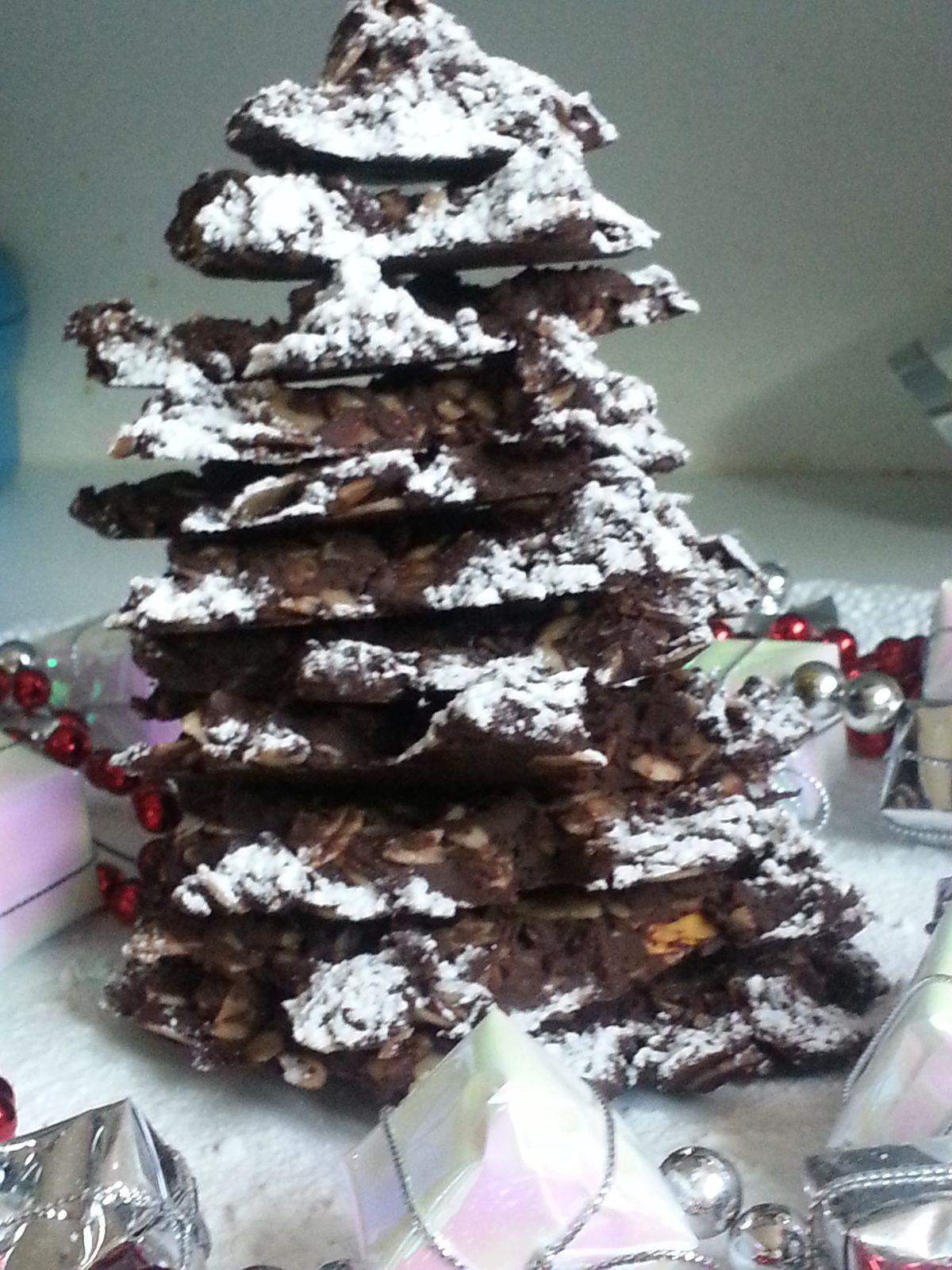 Sapin de Noel en chocolat