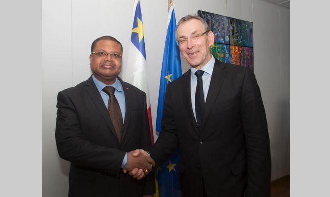 Visite de Nicolas Tiangaye, Premier ministre centrafricain, à la Commission Européenne au royaume de Belgique