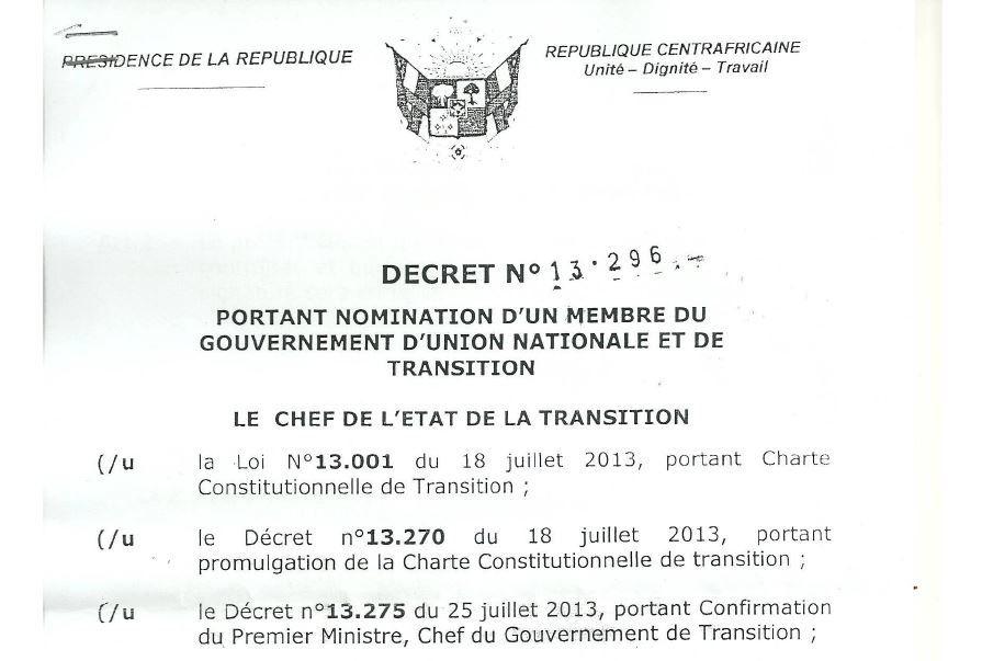 Le Pasteur Josué Binoua, nommé ministre de la Sécurité, de l'Immigration, Emigration et de l'Ordre public