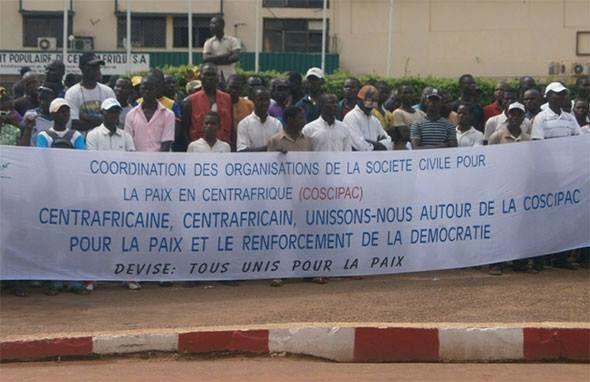 Bangui : manifestation pour le retour de la paix en Centrafrique