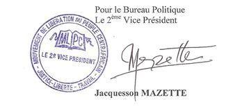 Le MLPC condamne les exactions et assassinats quotidiens des citoyens centrafricains