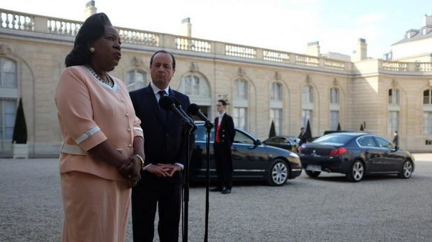 A Paris, Catherine Samba-Panza interpelle la communauté internationale
