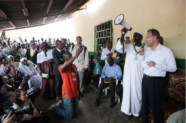 Centrafrique : Ban Ki moon envoie un message radio personnel au centrafricains pour la paix et l'unité