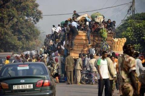 Arrivée à Bangui d'un millier de déplacés de Bambari