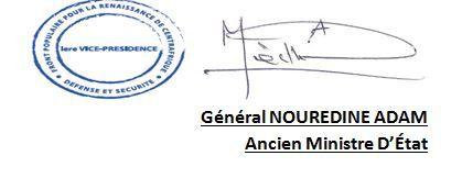 COMMUNIQUÉ No 0003/PR/BP/FPRC/ECS/RCA de Nouredine Adam