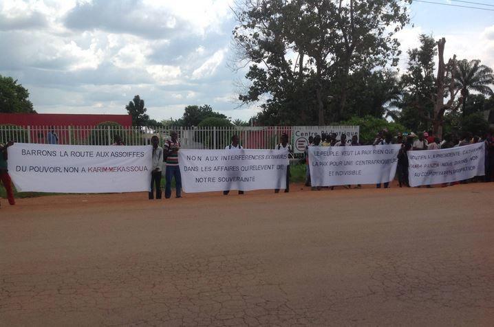 Sit-in à Bangui pour dénoncer les tentatives de partition de la RCA