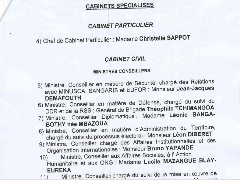 Catherine Samba-Panza retouche son cabinet
