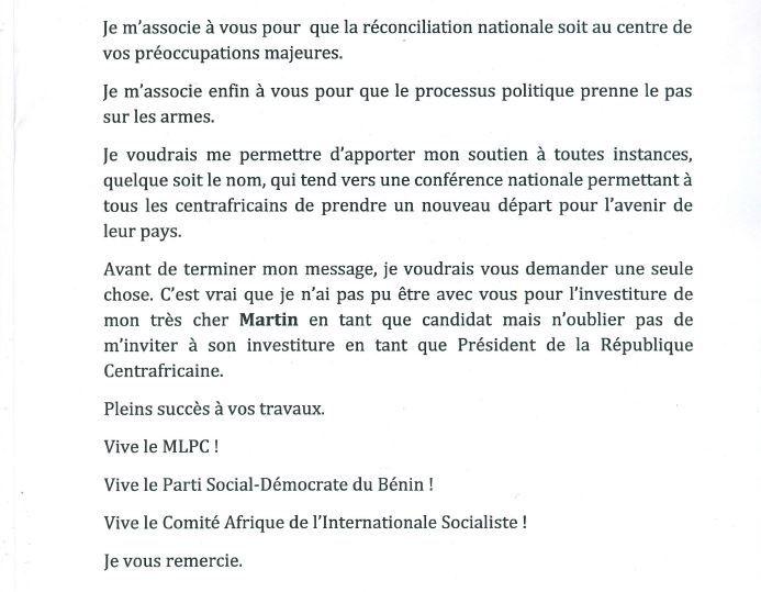 Spécial Congrès Extraordinaire du MLPC (Photos, Discours et Messages des partis amis) suite...