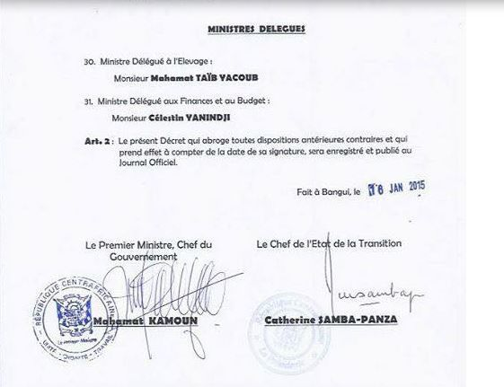 Composition du gouvernement Kamoun remanié