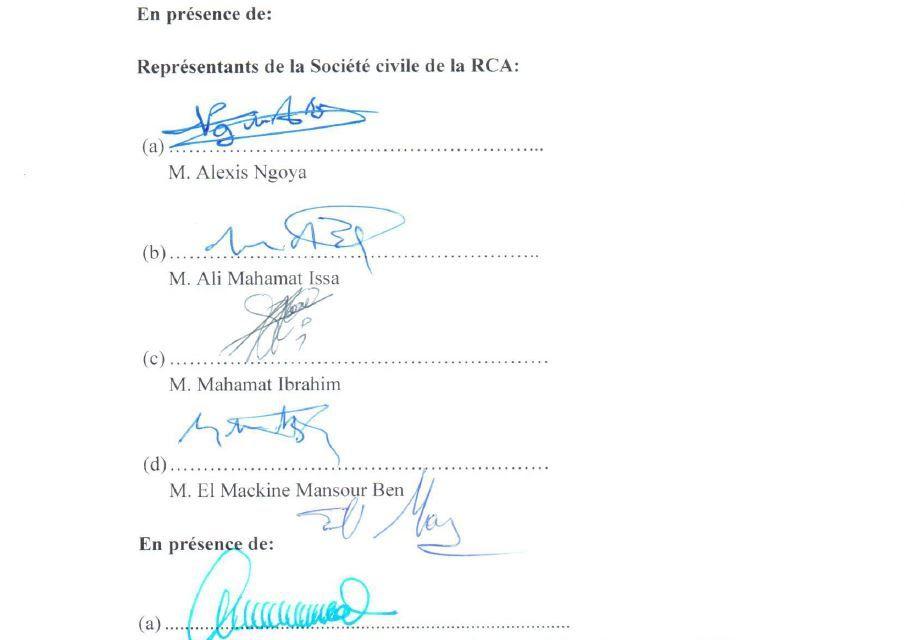 Qui sont les signataires de l'accord mort-né et rejeté de Nairobi ?