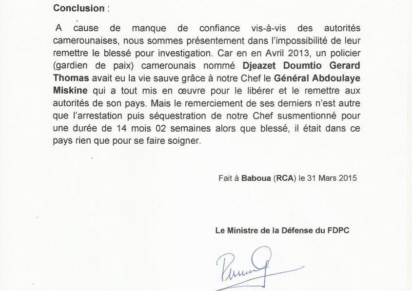 Communiqué de presse du FDPC
