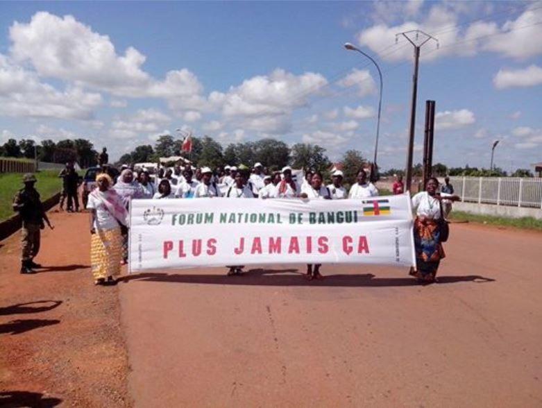 Centrafrique/Bangui : Double manifestations devant le CNT