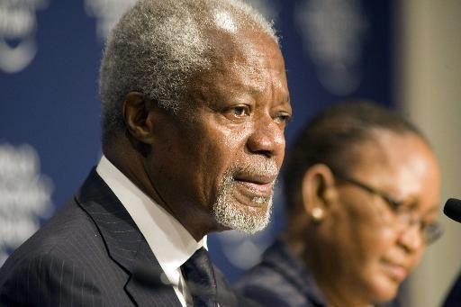 Kofi Annan soutient la déclaration de la Chancelière Angela Merkel et des dirigeants du G7 sur la réduction des combustibles fossiles et la promotion des investissements dans les énergies renouvelables en Afrique