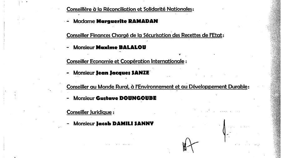 Le PM Mahamat Kamoun remanie son cabinet