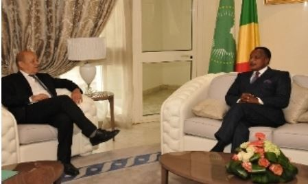 Lu pour vous : Denis Sassou N'Guesso et Jean Yves Le Drian saluent l'évolution du processus électoral en RCA