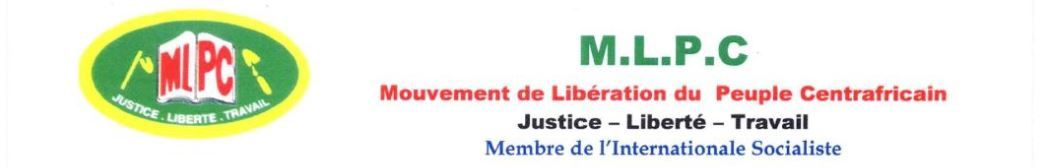 COMMUNIQUE DE PRESSE DE LA FEDERATION FRANCE - EUROPE DU MLPC