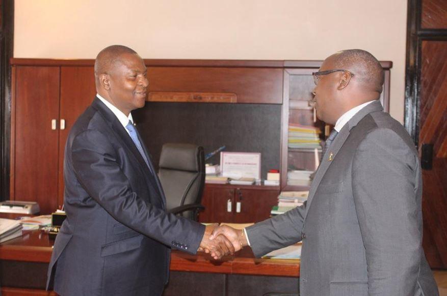 Le Pr Touadera s'entretient avec certains anciens candidats malheureux de la dernière présidentielle
