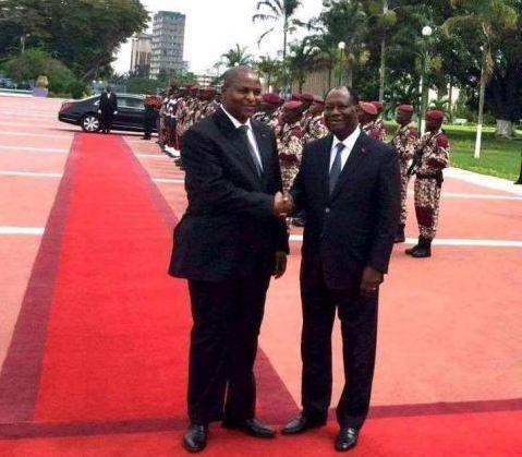 Centrafrique : le président Touadéra à Abidjan pour attirer les donateurs et rassurer