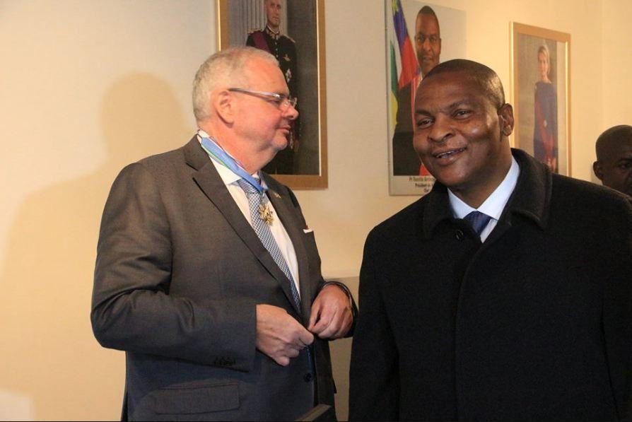 Déclaration de son Excellence Pr. Faustin Archange TOUADERA Président de la République, Chef de l'Etat A l'occasion de l'inauguration de l'Ambassade de la RCAen Belgique