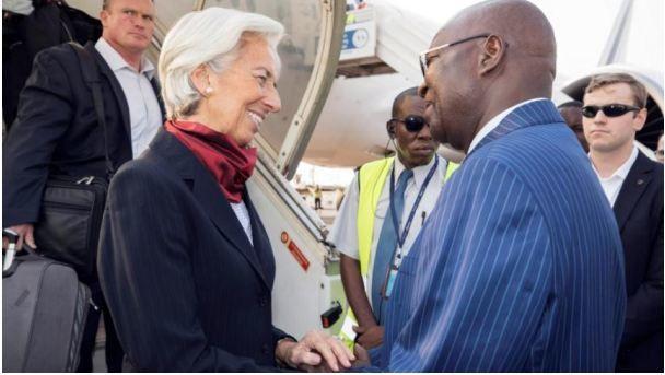 Christine Lagarde entame sa tournée en Afrique à Bangui