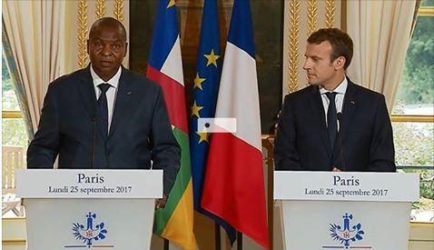 La Centrafrique &quot&#x3B;a besoin d'un État fort&quot&#x3B; (Macron)