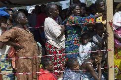 A l'aéroport de Bangui, un camp de déplacés proche de la &quot&#x3B;catastrophe&quot&#x3B;