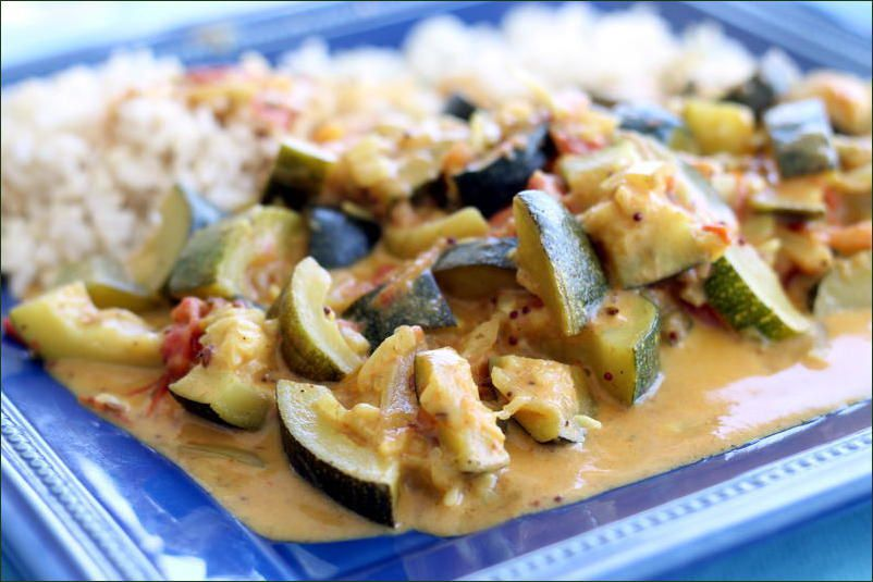 Curry de courgettes